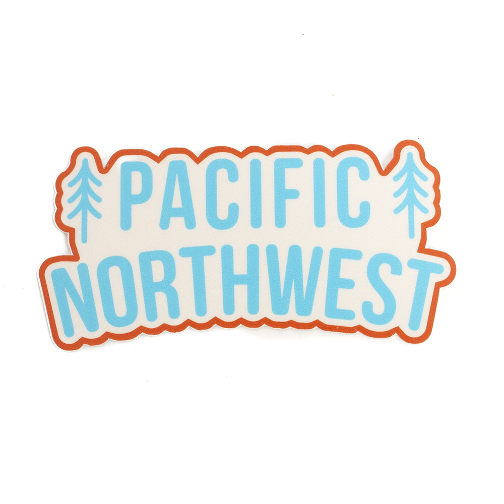 Sticker, Northwest Theme, Trees, PNW
